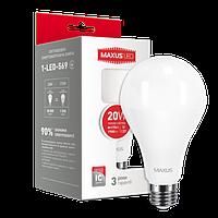 Светодиодная лампа Maxus 1-LED-569 20W А80 3000K E27 Код.54534