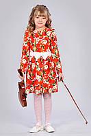 Детское платье с оригинальным принтом Яблоки