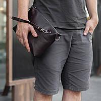 Мужская кожаная сумка, барсетка, клатч