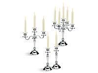 Подсвечник на 5 свечей серебро GAMMA SPA