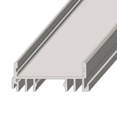 Алюмінієвий профіль ЛСС для LED стрічки срібло (за 1м) Код.57819