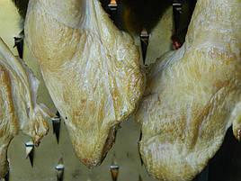 Куриные корочка, время копчения 8 минут.