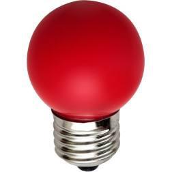 Светодиодная лампа Feron LB-37 G45 E27  1W красная 230V Код.58013