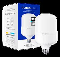 Светодиодная лампа высокомощная GLOBAL 1-GHW-002 30W 6500K E27 Код.58281