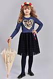 Детское платье с аппликацией сердце пайетки , фото 2