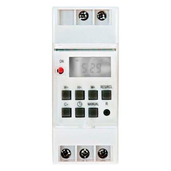 Электронный таймер на DIN-рейку FERON TM41 16A недельный Код.58520