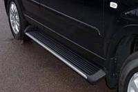 Боковые подножки , с пластмассовой накладкой, алюминий для B58 Kia sportage