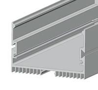 Дизайнерский LED-профиль ЛС 70 для LED ленты 73.4*47 мм анодированный, серебро (за 1м) Код.58704