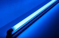 Светодиодная лампа синяя T8 SL-09B G13 9W 310* 230V Код.58732