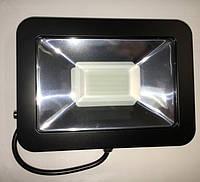 Светодиодный прожектор PREMIUM Slim SMD SL-4008 50W 6500K IP65 черный антибликовый Код.57011