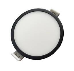Светодиодная панель SLIM RIGHT HAUSEN HN-234012 6W 4000K круглый черный Код.57895