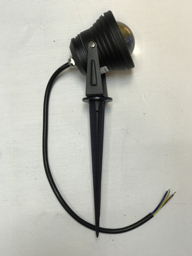 Светодиодный грунтовой линзованный светильник LM16 RGB 10W IP65 Код.58913