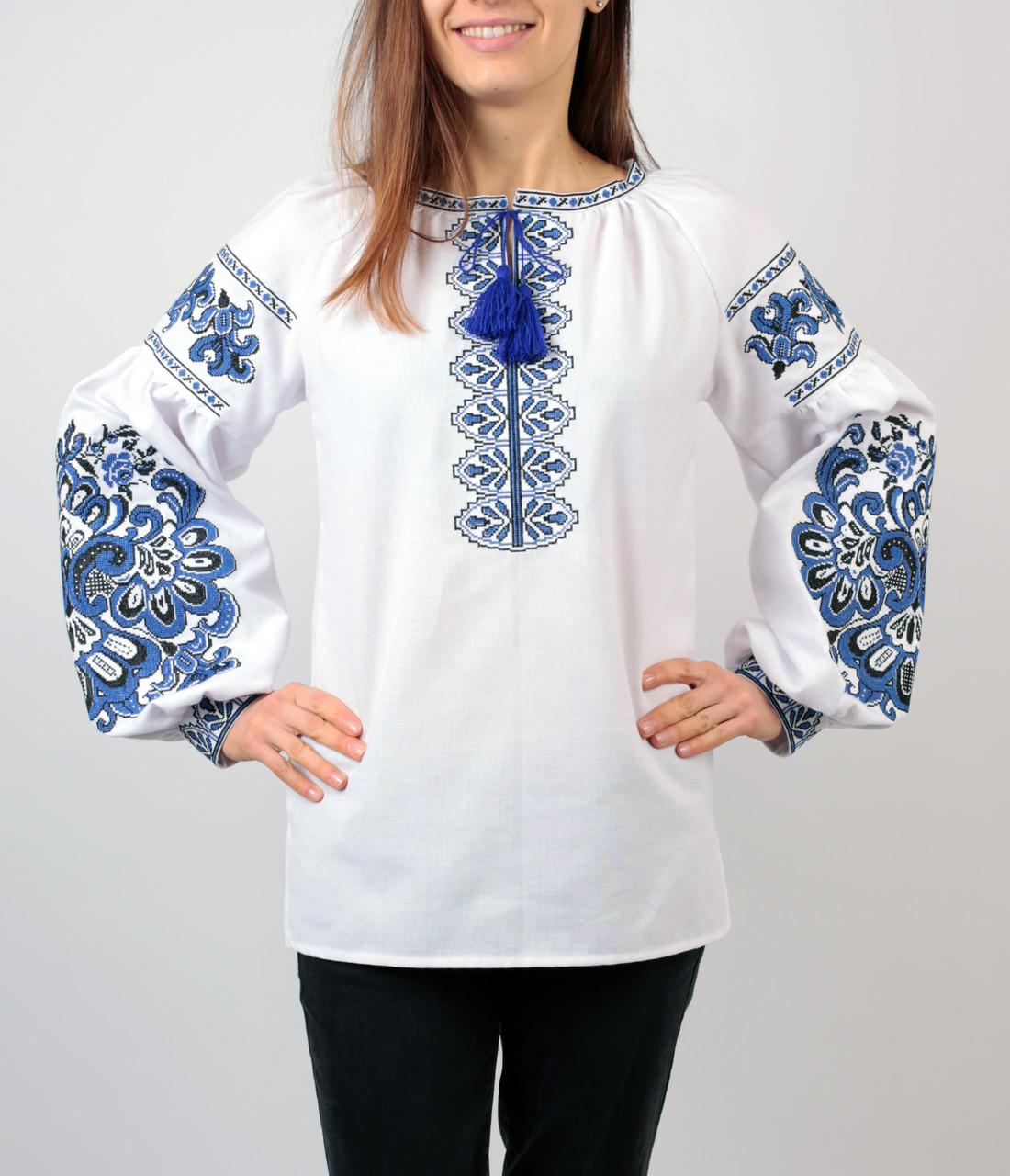 Жіноча вишита сорочка білого кольору з машинною вишивкою  продажа ... d4b3d2ed729c2