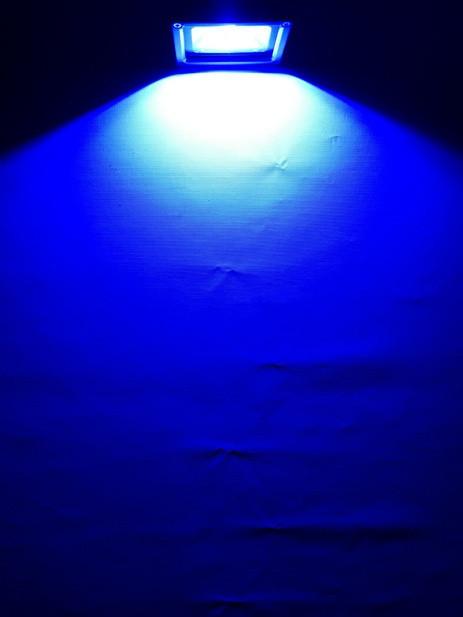 Світлодіодний прожектор SL-10 10W синій IP65 Код.59059
