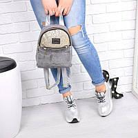 Рюкзак женский Chanel серый 1000, магазин рюкзаков