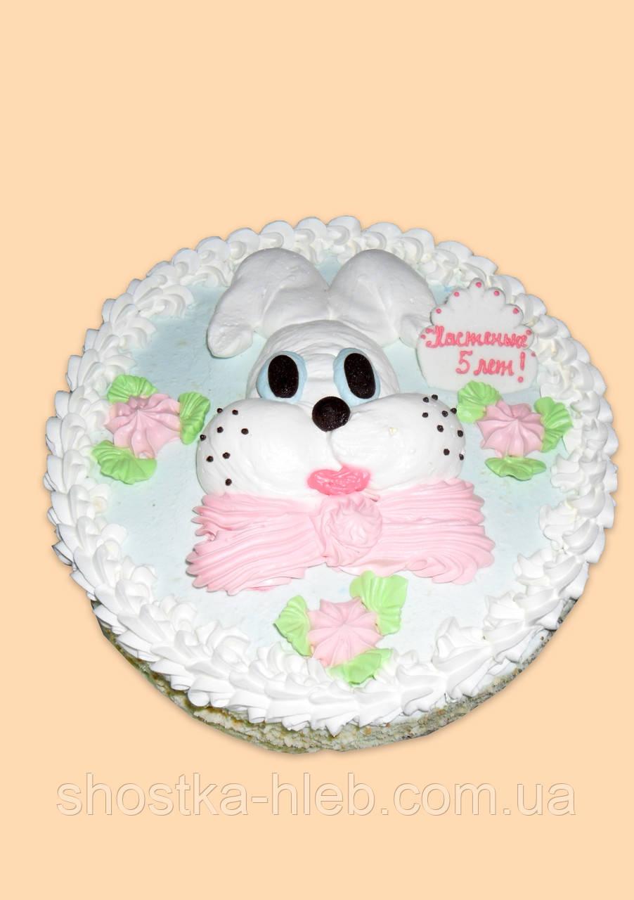 """Торт  к детскому празднику""""Вітальний """"Заяц"""" 1.300 кг"""