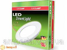 Светильник встраиваемый круглый DownLight EUROLAMP LED 4W 3000K, фото 2