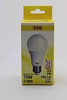 Светодиодная LED лампа А60 7Вт Е27 4100К 220тм