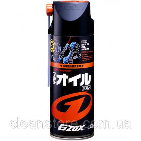 Проникающая смазка жидкий ключ MUTLI OIL SPRAY G'ZOX, 420 мл, фото 2