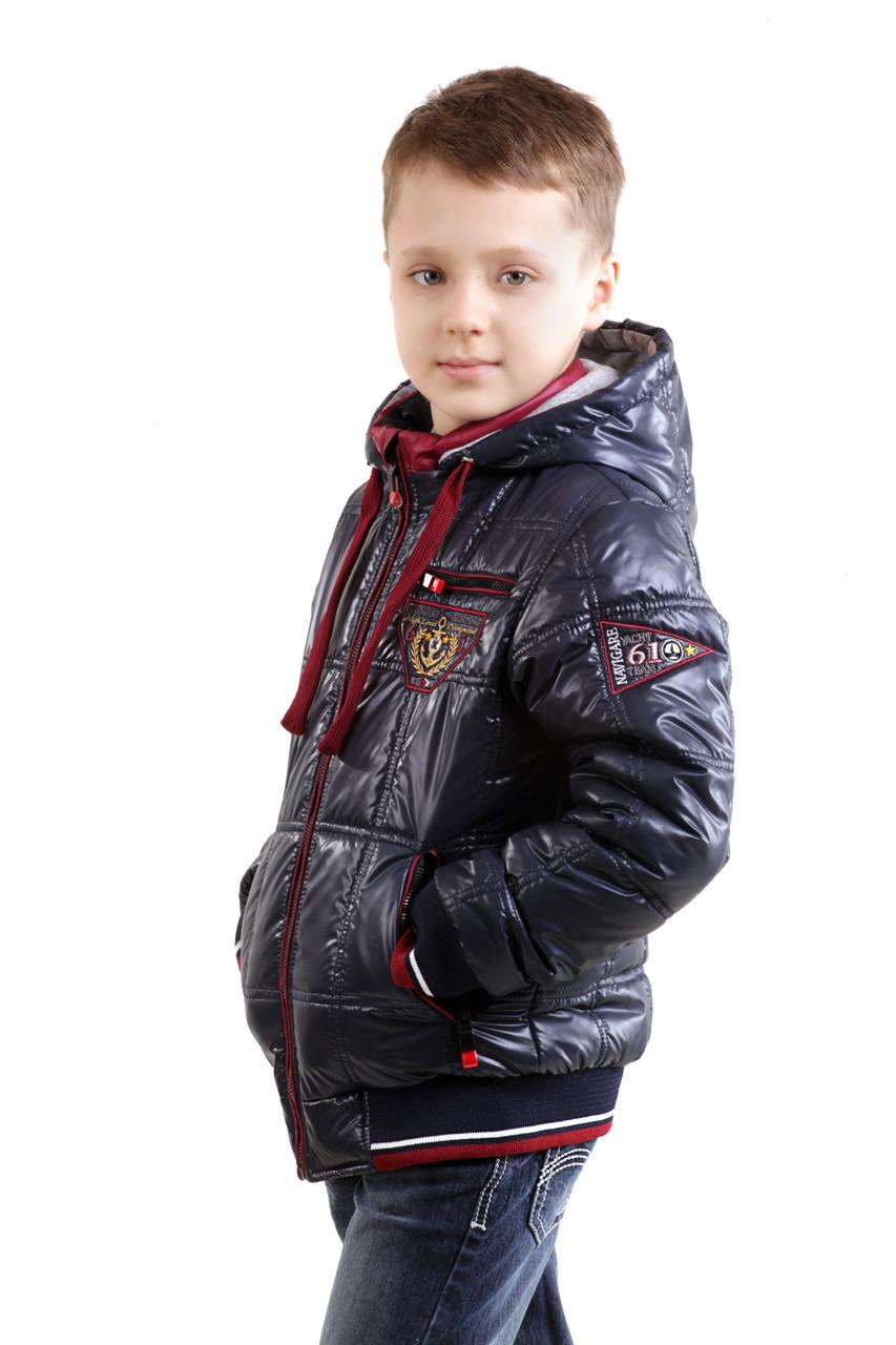 """Детская курточка для мальчика """"Квадратики"""""""