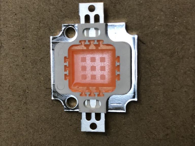 Фіто світлодіод матричний СОВ SL-10F 10W full spectrum led PREMIUM 300mA (45Х45 mil) Код.59123