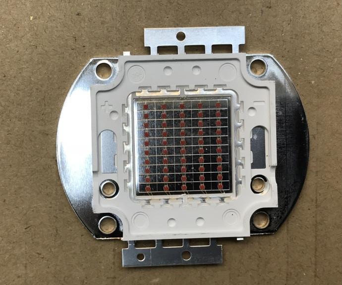 Светодиод матричный PREMIUM СОВ для прожектора SL-50 50W желтый (45Х45 mil) Код.59125