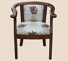 Крісло дерев'яне з підлокітниками для вітальні і кухні Глорія РКБ-Меблі, колір на вибір, фото 2