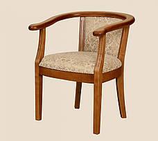 Крісло дерев'яне з підлокітниками для вітальні і кухні Глорія РКБ-Меблі, колір на вибір, фото 3