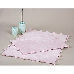 Набор ковриков Irya - Alya pembe розовый 60*90+40*60