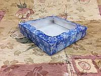 Копия Коробка Новогодняя снежинка с окном для пряников, печенья 150*150*30