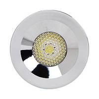 Светодиодный светильник Horoz (HL666L) 3W 6400K кругл. хром мат. (потолочный) Код.55293