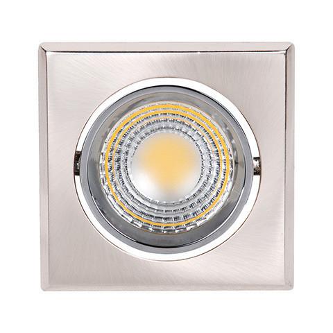 Светодиодный светильник Horoz (HL678L) 3W 6500K квадрат. мат. хром (потолочный) Код.55196