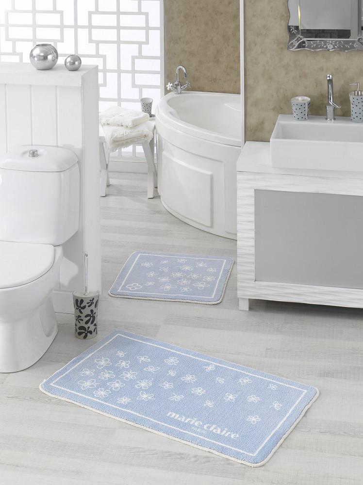 Набор ковриков для ванной Marie Claire - Brezze mavi  (57*57+57*100)