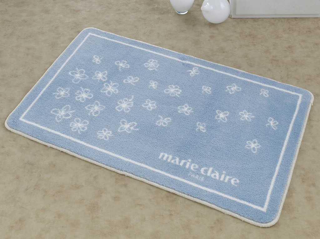 Коврик для ванной Marie Claire - Breeze mavi голубой 66*107