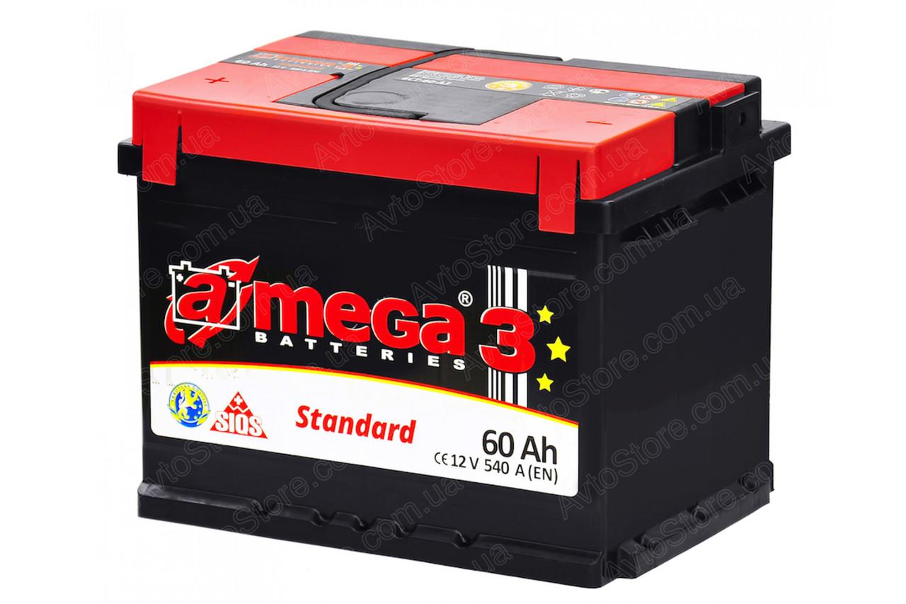 Аккумулятор A-mega Standard 6СТ-60-АЗ  (0)