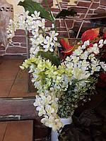 Цветы искусственные Орхидея бело-кремовые