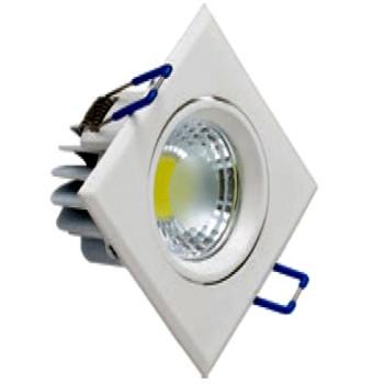 Світлодіодний світильник Horoz (HL678L) 3W 6500K квадрат. білий поворотний Код.57659