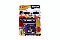 Батарейки щелочные Panasonic Alkaline AA/LR6, блистр - 4штук, Упаковка - 48штук.
