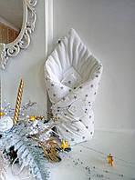 """Конверт-одеяло на выписку из роддома """"Пушистик STAR"""" Зима 90Х90 см"""