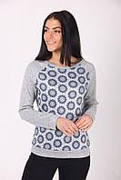 Модный свитшот из ангоры с геометрическим узором