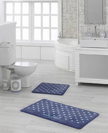Набор ковриков для ванной Marie Claire - Lodi lacivert (57*57+57*100), фото 2