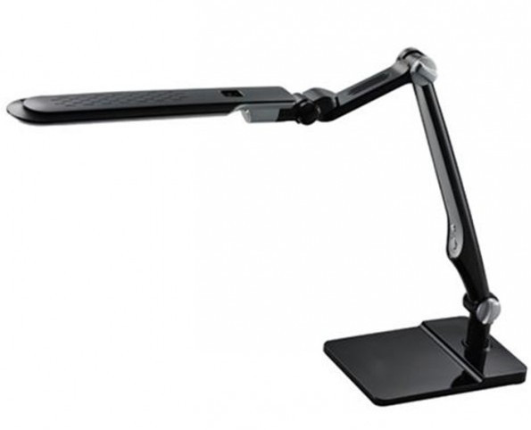 Светодиодная настольная лампа SEAN SL-1207 10W серебро/черный сенсор, диммер Код.58479