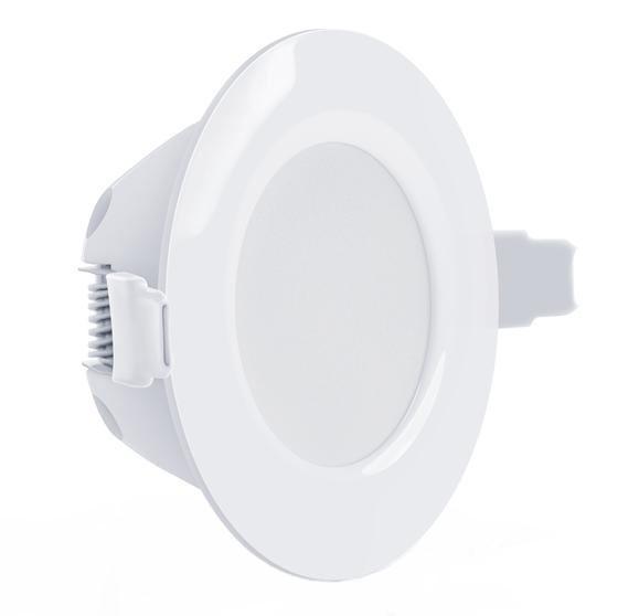 Светодиодный светильник Maxus SDL 105-01 8W 3000K кругл. белый IP 44 Код.58508