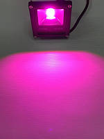 Светодиодный фитопрожектор SL-10G 10W IP65 (full spectrum led) черный Slim Код.58582