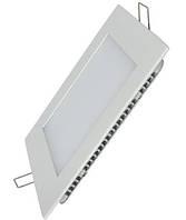 Светодиодная панель SL18 S 18W 3000K  квадрат белый Код.58617
