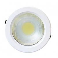 Светодиодный светильник SL-30XR 30W 6000K кругл. белый (потолочный) Код.58626
