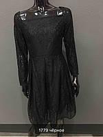 Чёрное платье из гипюра