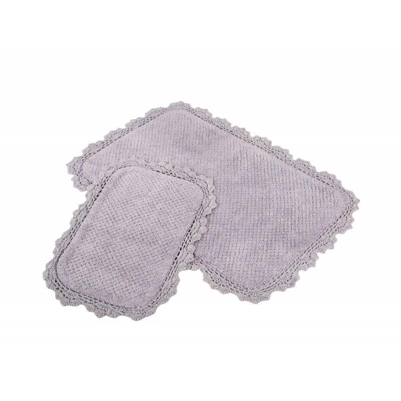 Набор ковриков Irya - Serra mor сиреневый 60*90+40*60