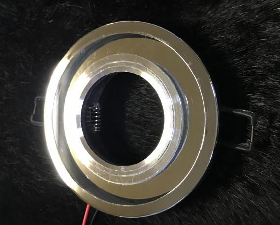 Точковий світильник SEAN SL-313 MR16 з LED підсвічуванням прозорий Код.58746