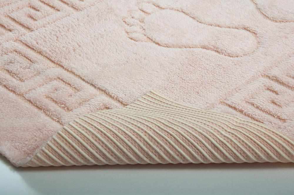 Коврик для ванной прорезиненный Lotus - 45х65 персик